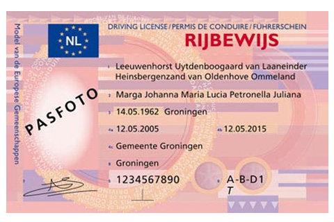 foto rijbewijs